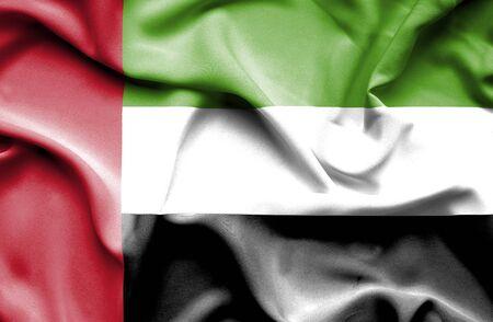 united arab emirates: United Arab Emirates waving flag