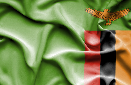Zambia waving flag