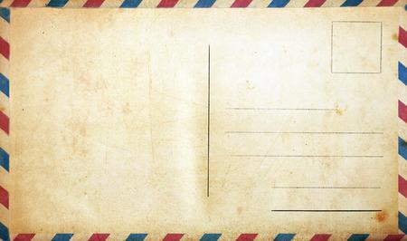 空白のヴィンテージのポストカード 写真素材