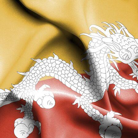 bhutan: Bhutan waving flag