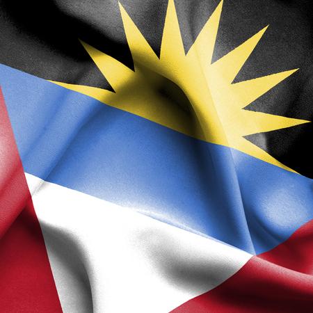 antigua and barbuda: Antigua and Barbuda waving flag