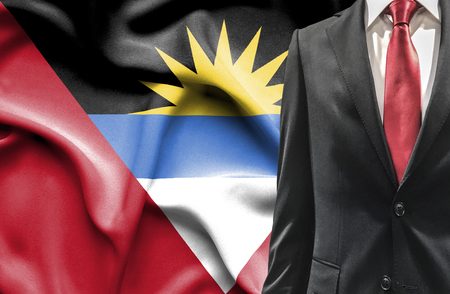undercover agent: Man in suit from Antigua and Barbuda Stock Photo