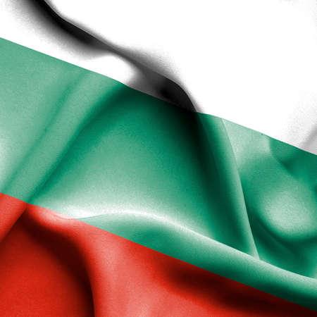 bulgaria: Bulgaria waving flag Stock Photo
