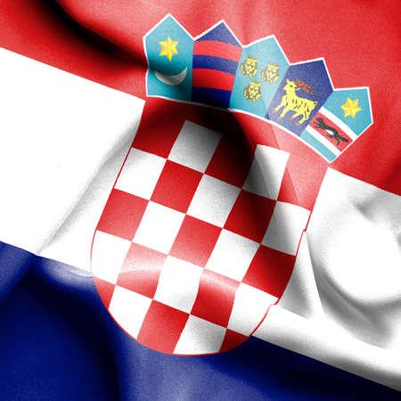 croatia: Croatia waving flag