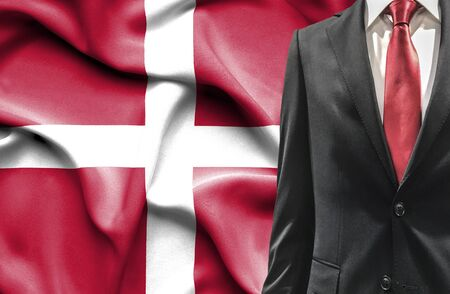 undercover agent: Man in suit from Denmark