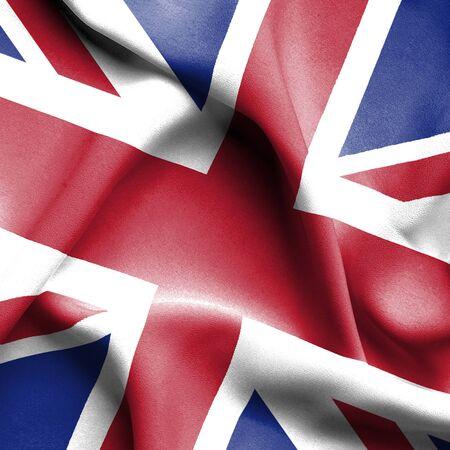 grunge union jack: Great Britain waving flag