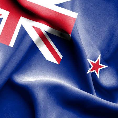 bandera de nueva zelanda: Nueva Zelanda Bandera de Foto de archivo