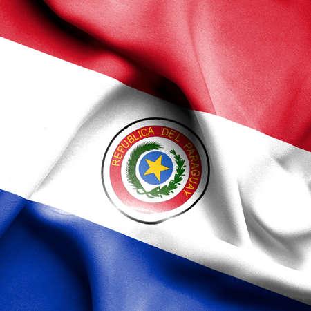 paraguay: Paraguay waving flag Stock Photo
