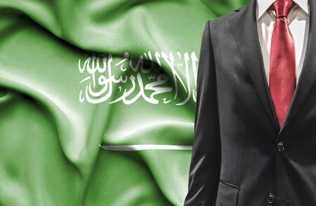 undercover agent: Man in suit from Saudi Arabia Stock Photo