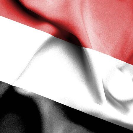 yemen: Yemen waving flag