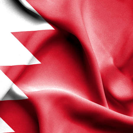 bahrain: Bahrain waving flag Stock Photo