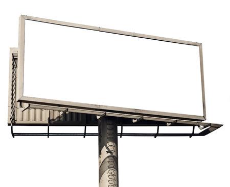 blank billboard: Blank billboard isolated on white background
