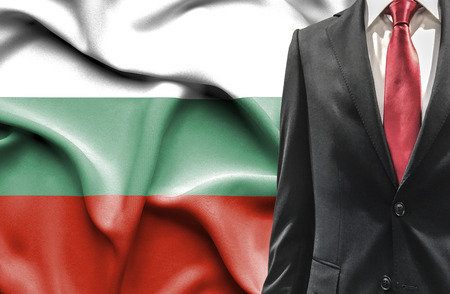 undercover agent: Man in suit from Bulgaria Stock Photo