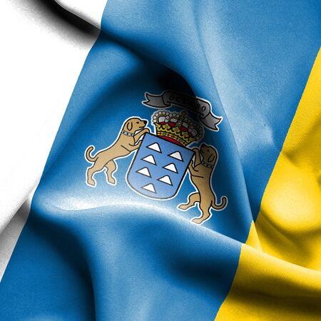 canary: Canary islands waving flag