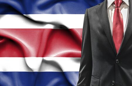 costa rican flag: Man in suit from Costa Rica