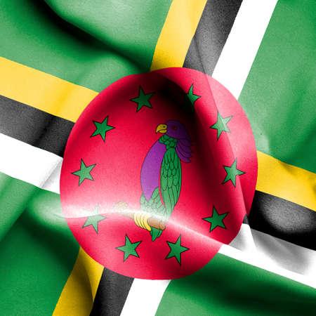 dominica: Dominica waving flag
