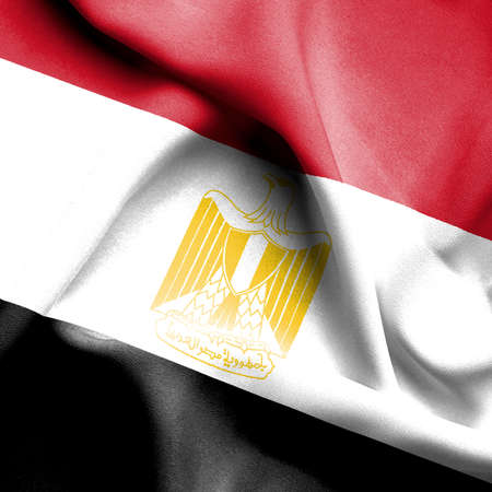 flag of egypt: Egypt waving flag