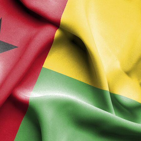 bissau: Guinea Bissau waving flag