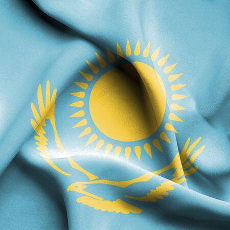 kazakhstan: Kazakhstan waving flag