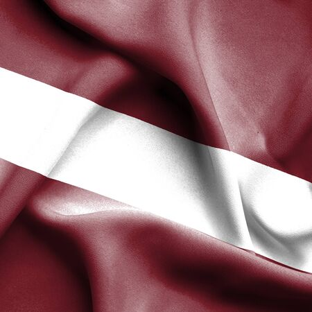 latvia: Latvia waving flag