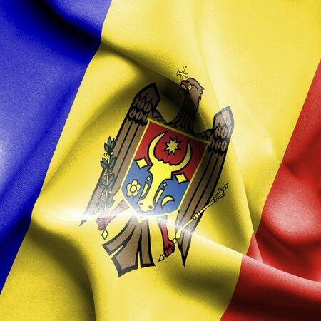 moldavia: Moldavia waving flag