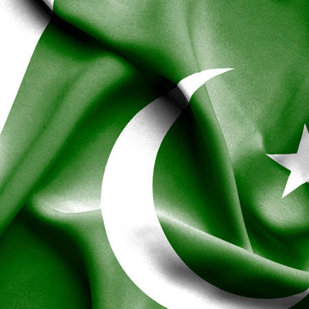 flag of pakistan: Pakistan waving flag