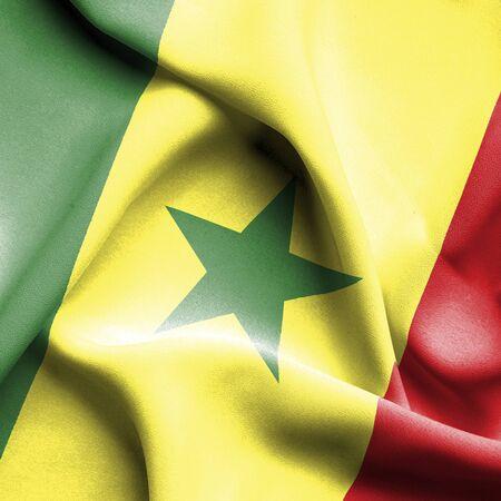 senegal: Senegal waving flag