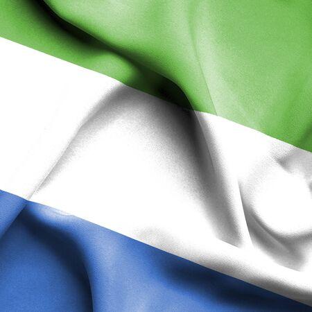 sierra leone: Sierra Leone waving flag Stock Photo