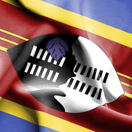 swaziland: Swaziland waving flag
