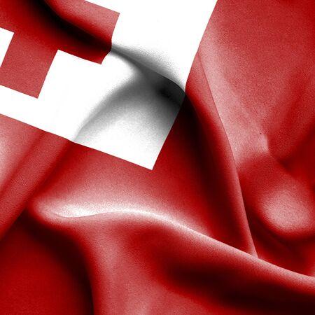 tonga: Tonga waving flag