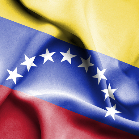 Venezuela waving flag photo