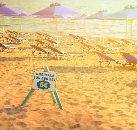 escrow: Beach rental service concept Stock Photo