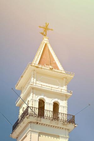 ionio: Zante town-hall old on Zakynthos island - Greece Stock Photo