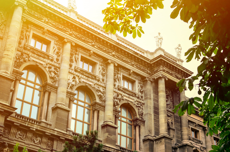 library old: National library in Vienna Austria Stock Photo
