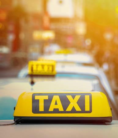 a yellow taxi: Taxi concept