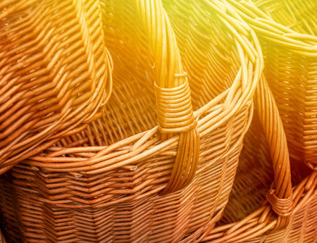 cepelia: Group of wickery baskets Stock Photo