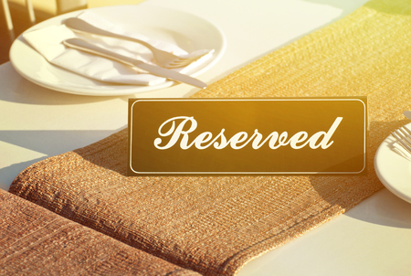 medium group of object: Restaurant reservation concept
