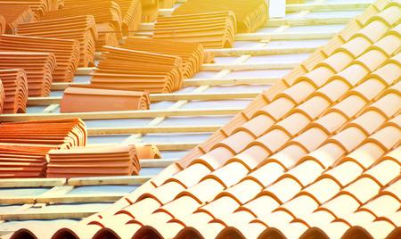 屋根工事 写真素材