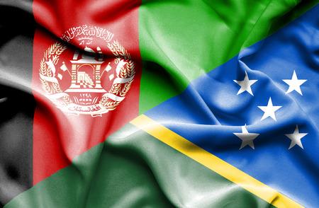 solomon: Waving flag of Solomon Islands and Afghanistan