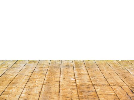 the backplate: Wooden floor isolated on white background