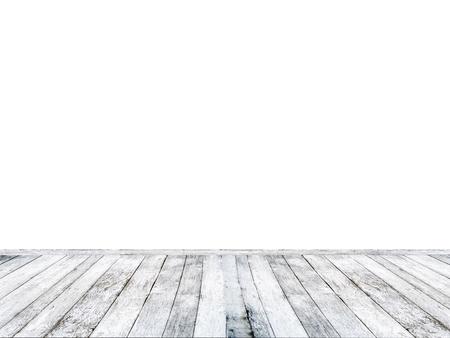 wooden floor: White wooden floor isolated on white background