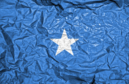 somalian culture: Somalia vintage flag on old crumpled paper background