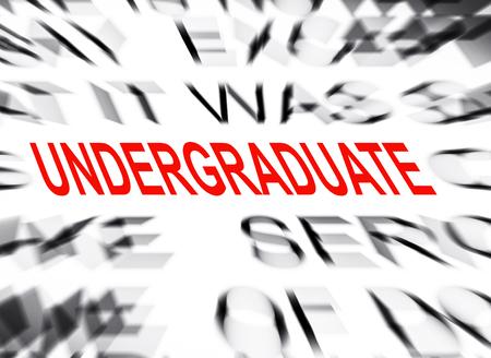 undergraduate: Blured text with focus on UNDERGRADUATE Stock Photo
