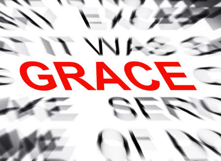 grace: Blured text with focus on GRACE