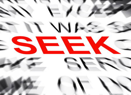 seek: Blured text with focus on SEEK