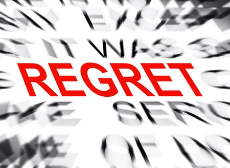 data dictionary: Blured text with focus on REGRET