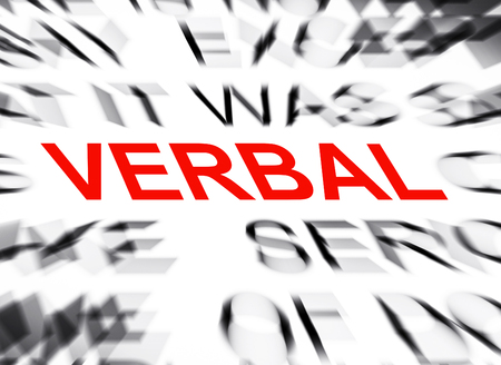 verbal: Blured text with focus on VERBAL