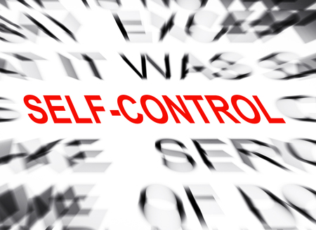 selfcontrol: Blured text with focus on SELF-CONTROL