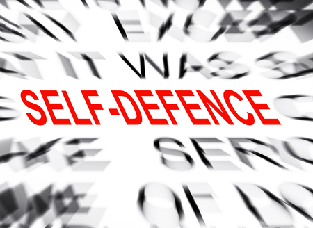 defence: Blured text with focus on SELF DEFENCE