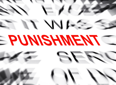 punishment: Blured text with focus on PUNISHMENT